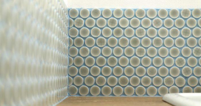 こだわりタイルの洗面台