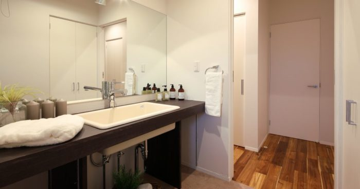 広々としたゆとりのある洗面室